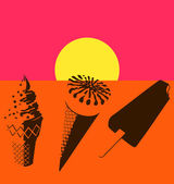 Ice cream. Pop art — Vecteur