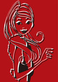 Woman pop art — Stock Vector