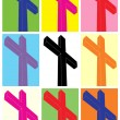 Crucifix, pop art — Vector de stock #38328935