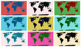 World map pop art — Stock Vector