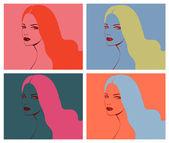 Beautiful girl pop art — Stock Vector