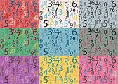 From zero to nine pop art — Stock Vector