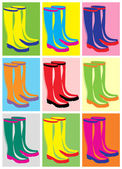Pair of boots — Stock Vector