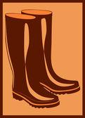 ブーツのペア — ストックベクタ