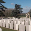 Stock Video: War 14-18. Chinese cemetery of Nolette, Noyelles-sur-Mer