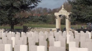 War 14-18. Chinese cemetery of Nolette, Noyelles-sur-Mer — Stock Video