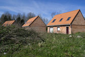 Private housing estate abandonned in France — Stock Photo
