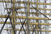 Rigging of four-mast ship — Stock fotografie
