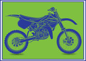 Dirt Bike — Stock Vector