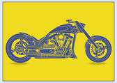 Road motorcycle — Stock Vector