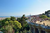 Güell park, view from above — Stock Photo