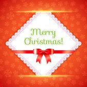 Frohe Weihnachten-Postkarte. Vektor-illustration. — Stockvektor