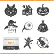 Halloween Vector Icons Set — Stock Vector