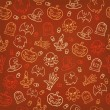 Halloween seamless background. Vector illustration — 图库矢量图片