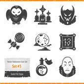 Halloween Vector Icons Set — Stock Vector