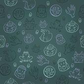 Halloween seamless background. Vector illustration — Stock Vector