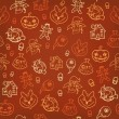 Halloween seamless background. Vector illustration — Stock Vector