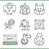 Halloween Vector Icon Set — Stock Vector
