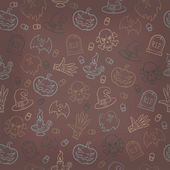 Halloween seamless background. Vector illustration — Stock vektor