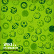 Vector sports seamless background. Sports equipment colored pattern. — Stock Photo #50410191