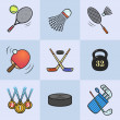 Collection of sport icons. — Stock Photo #50411401