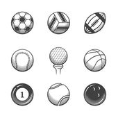 Collection of sport  balls icons. — Stock Photo