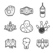 Collection of sport icons. — Stock Photo