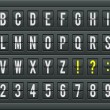 Airport arrival table alphabet with characters and numbers. — Stok Vektör #50584875