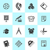 Set of school and education icons. — Stock Vector