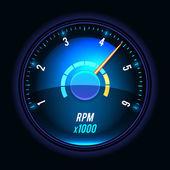 Vector tachometer. — Stock Vector