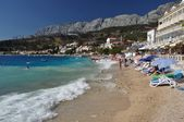 Amazing beach of Podgora — 图库照片