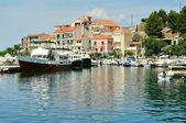 Port of Podgora in Croatia with some boats — Stock Photo