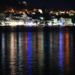 Night scene of Podgora. Croatia — Stock Photo