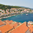 Town Korcula in island Korcula in Croatia — Stock Photo