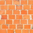 Detail of new brick wall — Foto Stock