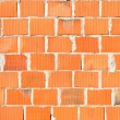 Detail of new brick wall — Stock Photo