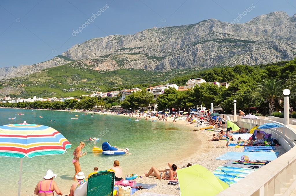 Tucepi Croatia Photos Amazing Beach With People in Tucepi Croatia Tucepi is a Popular Holiday