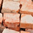 Detail of some old used bricks in stack — Stok fotoğraf