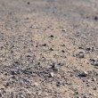 Terrain road with small rocks on the ground — Stock Photo