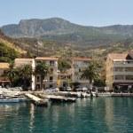 Port of Podgora with ships. Croatia — Stock Photo