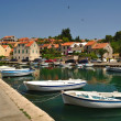 Port of Vrboska. Croatia — Stock Photo