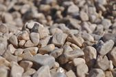 Background of small brown rocks — Stock Photo