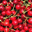 Stock Photo: Texture from group of red ripe cherries