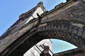 Czech Republic, Prague - Charles bridge tower — Stock Photo