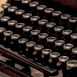 Retro typewriter with — Stock Photo