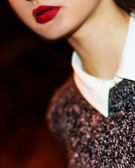 Sexy Lips. Beauty Red Lips Makeup — Stock Photo