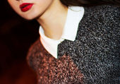 Sexy Lips. Beauty Red Lips Makeup — 图库照片
