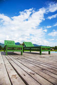 Couple of beach chairs in nature — Stock Photo