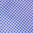 Blue plaid fabric as background — Stock Photo
