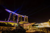 Night view from the Marina Bay Sands resort hotels on DEC. 24, 2 — Stock Photo